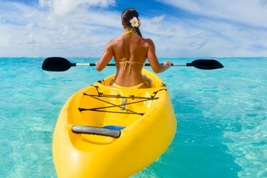Kayak Solo Activity in the Maldives