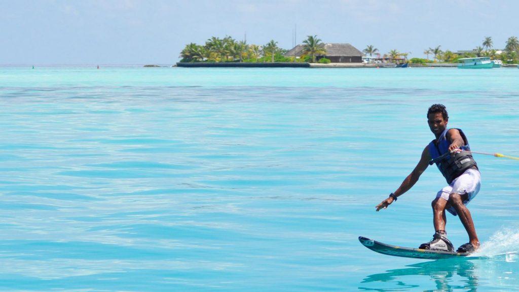 Mono Skiing in The Maldives