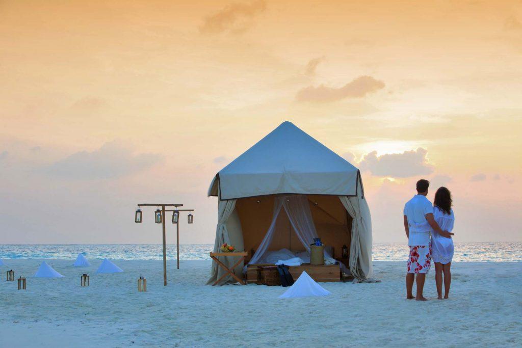 Overnight Sandbank Camping by Soneva Fushi Maldives
