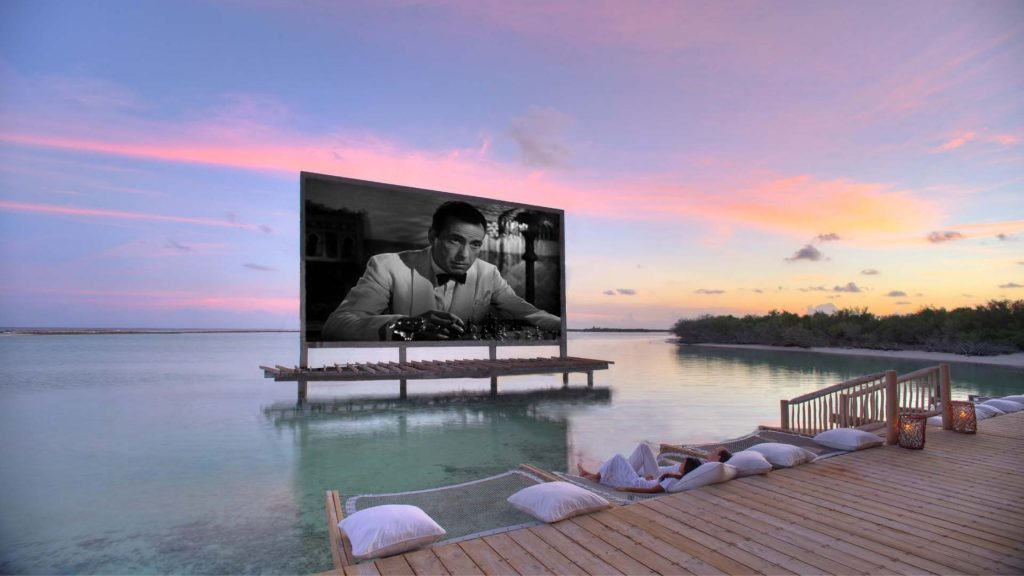 Open-Air Movie Screenings at Soneva Jani Resort